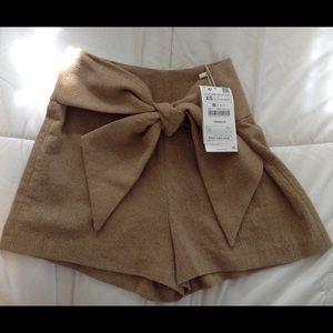 Zara xs high waisted bow short
